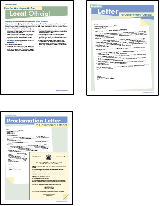 radon awareness to your elected officials a sample awareness letter and a sample letter requesting an official to make a proclamation of their support