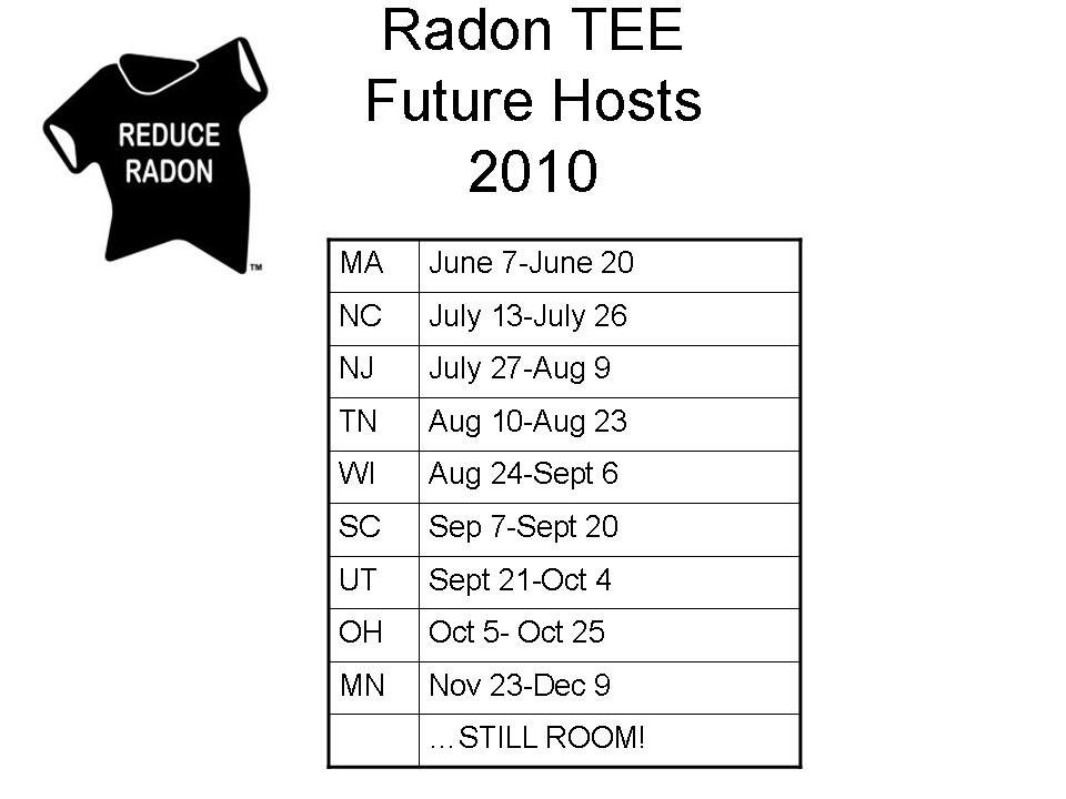 Radon tee webinar held today radon rid radon testing for How to get rid of radon gas in your home